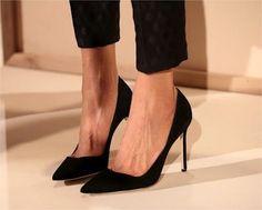 elegant + black heels