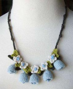 crochet blue bells necklace by meekssandygirl, via Flickr