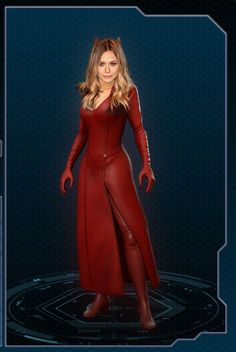 Elizabeth Olsen in the Uncanny Avengers version of the Scarlet Witch costume. Description from pinterest.com. I searched for this on bing.com/images