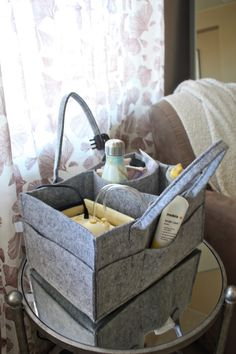 This is the perfect Breast Pump Tote Station! Great for organization!