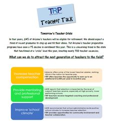 What can be done to prevent Arizona's next teacher retention crisis? Check out the latest edition of TRP's Teacher Talk here! Blog Page, Teacher, Check, Professor