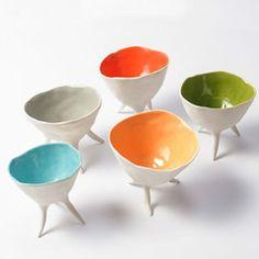tripod ceramic bowl