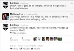 I HATE the Kings, but I love when they have their sassy pants on.