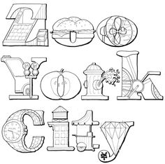 Michael Deal's Type Illustrations for Zoo York
