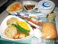 Emirates Airline Economy Meal, Dubai <-> Sydney - Vegetarian Dish