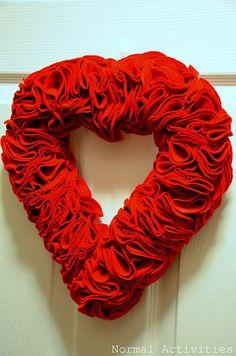 valentines felt wreath