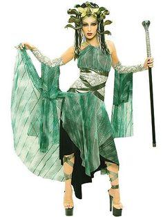 Medusa, Serpent Monster Adult Costume | Womens Greek/Roman Halloween Costumes