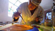 Judith Debruyn is a french artist, painter and stained glass maker of Douai, France, who have been working in more than 50 churches in Europe and often trave...