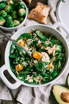 Spinach & Orzo Pasta Salad – The Blonde Chef