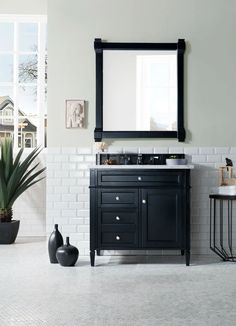 Victoria Single Bathroom Vanity in Espresso with White Marble Top Square Sink and Polished Chrome Faucet with Mirror – Marble Bathroom Dreams Single Sink Bathroom Vanity, Vanity Sink, Small Bathroom, Bathroom Vanities, Master Bathroom, Vanity Cabinet, Bathroom Ideas, Single Vanities, Bathroom Organization