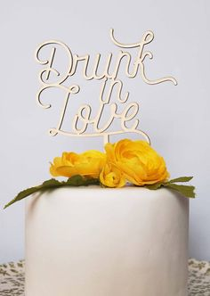 Hey, I found this really awesome Etsy listing at https://www.etsy.com/ca/listing/512124190/drunk-in-love-cake-topper