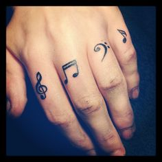 finger tattoos for women | tattoos of music notes musical on finger