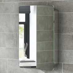 Unique Sliding Door Mirrored Bathroom Cabinet