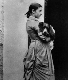 Beatrix potter (age 15) with her dog