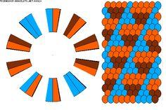 two color kumihimo pattern - 16 strings 2 colours Braid Patterns, Loom Patterns, Beading Patterns, Friendship Bracelet Patterns, Friendship Bracelets, Kumihimo Bracelet, Fun Loom, Mochila Crochet, Schmuck Design