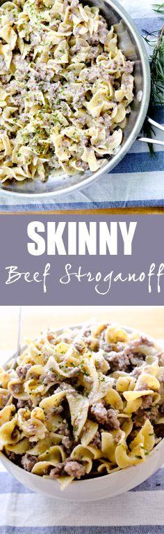 Skinny Beef Strogano