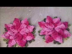 Passo a passo Flor Catavento em Crochê Com Cristina Coelho Alves - YouTube