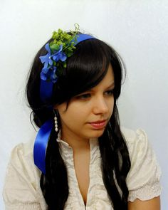 E m m a  Royal blue sash head band with by RuthNoreDesigns on Etsy, $18.00