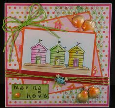 Designed by Allison Hugill using Little Claire digi Beach Huts stamp