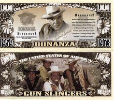 Bonanza TV Series Million Dollar Novelty Money