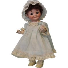 """10"""" Large AM Armand Marseille 323 Googly Character German Bisque Doll Sleep Eyes"""