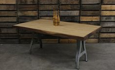 bowling lane tables | Reclaimed Bowling Lane Dining Table by MDQualityGoods on Etsy
