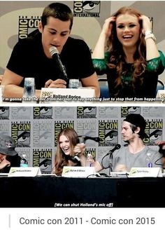 teen wolf cast in comic con Teen Wolf Stydia, Teen Wolf Stiles, Teen Wolf Cast, Dylan O'brien, Teen Wolf Dylan, Teen Wolf Funny, Teen Wolf Memes, Teen Wolf Quotes, Teen Tv