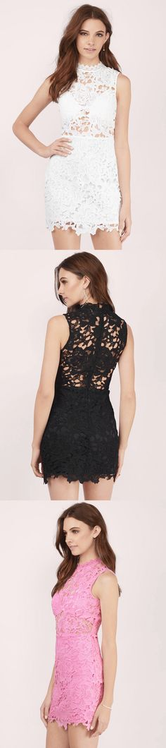 Sweet Fantasy Lace Bodycon Dress Check out our best sellers and more at www.TOBI.com | #SHOPTobi | | Don't forget 50% off your first order. on us.