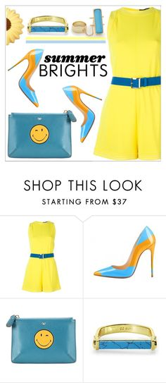 """Summer brights"" by simona-altobelli ❤ liked on Polyvore featuring Dsquared2, Anya Hindmarch, CC SKYE, Alexis Bittar, summerbrights and fsjshoes"