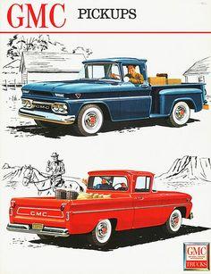 1962 GMC Fenderside and Wide-Side Pickups