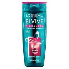 L'Oréal Paris Elvital Shampoo Fibralogy 250 ml Shampoo Loreal, Thickening Shampoo, Hair Loss Shampoo, Sulfate Free Shampoo, Loreal Skin, Hair Care Routine, Hair Care Tips, Shampoo For Thick Hair, Thick Hair