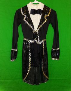 Art Stone Sequin Tuxedo Tails Dance Costume Size MA | eBay Tuxedo With Tails, Halloween Costumes For Sale, Dance Outfits, Dance Costumes, Dance Wear, Sequins, Blazer, Best Deals, How To Wear