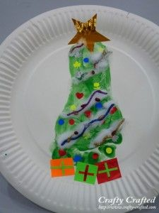 Footprint CHristmas Tree, we did something like this very but we placed it inside of a card instead of a plate!