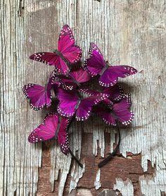 Violet Nebula Monarch Butterfly Fascinator