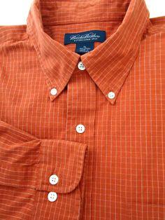 BROOKS BROTHERS 1818 Men's XL CHECKS Button Down SHIRT L/S B/D Collar