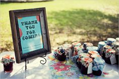 Wedding favors & table assignments all in one!