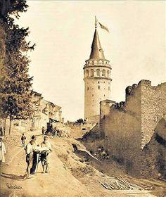 ✿ ❤ Bir Zamanlar İSTANBUL, Galata Büyük Hendek Caddesi.