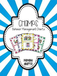 Behavior Management Posters: CHAMPS Aligned