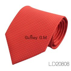 Red Striped Ties for Men Casual Jacquared Neckties for Men Classic Striped Neck Tie For Wedding Party
