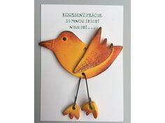Kouzelný ptáček pro štěstí. Dodává se zabalené v celofánu. Vhodné jako malý dáreček.