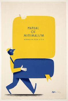 Manuel of Minimalism by Riccardo Guasco. Homage to Ellsworth Kelly. retro