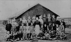 From the National Archives website. Teacher and children in front of sod schoolhouse. Woods Co. Extensive collection of historical photos, along with page of advise for handling and preserving old photos. Native American Art, American History, American Women, American Indians, Vintage Photographs, Vintage Photos, Old School House, School Days, Country School