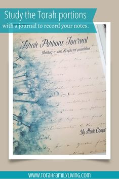 Torah portions journal is a 200+ page printable designed to help you organize and record your studies of the Torah portions year after year.This is a downloadable PDF, so you will not receive a physical product. | Torah family living
