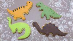 Galletas dinosaurios. Vainilla y fondant.