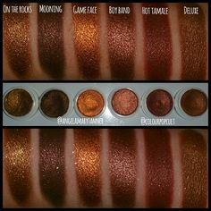 Here s the first part FALL COLOURPOP comparison. DELUXE, MOONING, GAME FACE, BOY BAND, HOT TAMALE, ON THE ROCKS