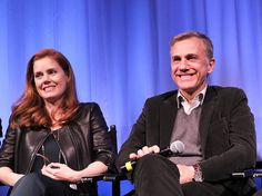 Amy Adams and Christoph Waltz attend an Official Academy Members Screening of Big Eyes hosted by The Academy Of Motion Picture Arts And Sciences on December 13, 2014 in New York City.
