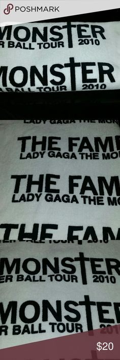 Lady Gaga tour 2010 The fame  monster Lady Gaga the monster ball tour 2010 towel. Never used, only washed and used as a throw! No brand Accessories