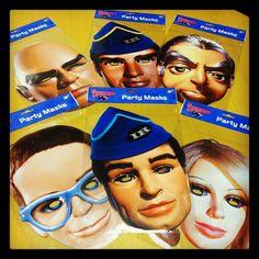Thunderbirds Party Masks