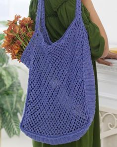 Best Free Crochet » Free Mesh Market Bag Crochet Pattern From RedHeart.com