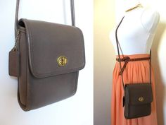 Vintage Coach Taupe Scooter Bag 9893 Hippie Leather by hanniandmax, $59.00